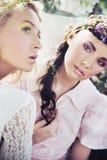 Due crisalidi del fiore Fotografia Stock