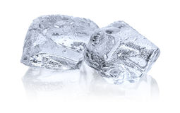Due cubi di ghiaccio Fotografia Stock Libera da Diritti