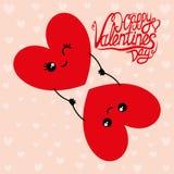 Due cuori degli amanti per il San Valentino illustrazione vettoriale
