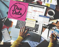 Due Date Appointment Day Event Important Concept stock image
