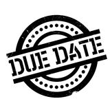 Due Date rubber stamp. Grunge design with dust scratches. Effects can be easily removed for a clean, crisp look. Color is easily changed royalty free stock photos