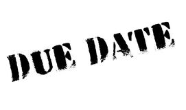 Due Date rubber stamp. Grunge design with dust scratches. Effects can be easily removed for a clean, crisp look. Color is easily changed stock images