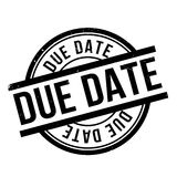 Due Date rubber stamp. Grunge design with dust scratches. Effects can be easily removed for a clean, crisp look. Color is easily changed royalty free stock photo