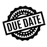Due Date rubber stamp. Grunge design with dust scratches. Effects can be easily removed for a clean, crisp look. Color is easily changed stock photo