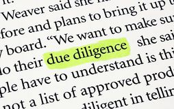 Due Diligence Stock Images