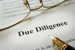 Free Due Diligence. Stock Images - 84863264