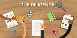 Due diligence business graph data analysis Royalty Free Stock Photos