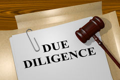 Due Diligence - legal concept Stock Images