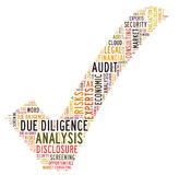 Due Diligence. Word cloud isolated Royalty Free Stock Photography