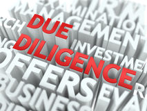 Due Diligence - Wordcloud Concept. Royalty Free Stock Photos