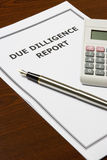 Due Dilligence Report Stock Images