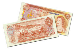 Due dollari canadesi di banconota Fotografia Stock Libera da Diritti