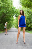 Due donne attraenti Fotografie Stock