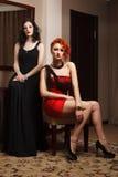 Due donne attraenti Fotografie Stock Libere da Diritti
