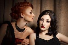 Due donne attraenti Fotografia Stock Libera da Diritti