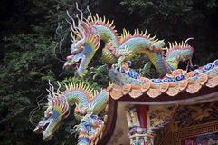 Due draghi, Taiwan Fotografia Stock