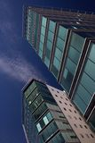 Due edifici per uffici moderni Fotografia Stock Libera da Diritti