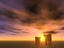 Due elefanti Immagine Stock Libera da Diritti