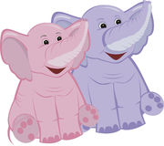 Due elefanti Immagini Stock