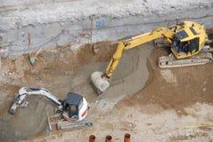Due escavatori Immagine Stock Libera da Diritti