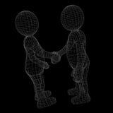 Due esseri umani danno la loro mano per la stretta di mano Fotografie Stock Libere da Diritti