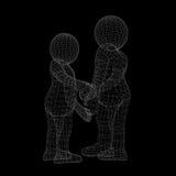 Due esseri umani danno la loro mano per la stretta di mano Immagini Stock Libere da Diritti