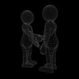 Due esseri umani danno la loro mano per la stretta di mano Fotografia Stock