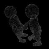 Due esseri umani danno la loro mano per la stretta di mano Fotografia Stock Libera da Diritti