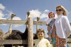 Due famiglie Fotografia Stock Libera da Diritti