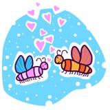 Due farfalle colorate nell'amore Fotografie Stock Libere da Diritti