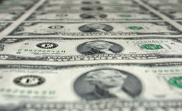 Due fatture del dollaro immagine stock libera da diritti