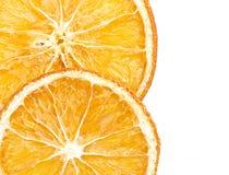 Due fette di arancia secca fotografia stock