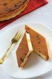Due fette di torta di formaggio Immagini Stock