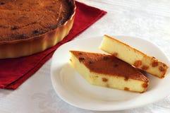 Due fette di torta di formaggio Fotografia Stock