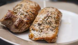 Due filetti arrostiti della carne di maiale Fotografia Stock