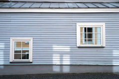 Due finestre blu classiche Fotografie Stock Libere da Diritti