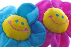 Due fiori variopinti felici Immagini Stock Libere da Diritti