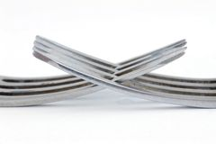 Due forcelle d'argento Immagine Stock Libera da Diritti