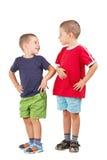 Due fratelli divertenti Immagini Stock