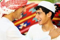 Due fratelli, due genti arabe Fotografia Stock