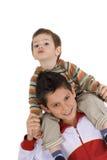Due fratelli felici Immagine Stock