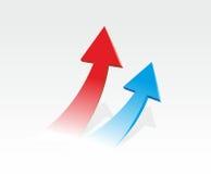 Due frecce colorate Immagini Stock Libere da Diritti
