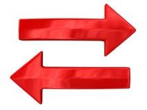 Due frecce rosse Immagini Stock Libere da Diritti