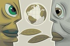 Due fronti. Dialogo ambientale Fotografia Stock