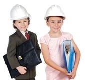 Due futuri dell'assistente tecnico Immagine Stock Libera da Diritti