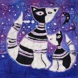 Due gatti illustrazione di stock