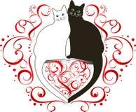 Due gatti nell'amore royalty illustrazione gratis