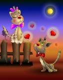Due gatti si innamorano Fotografie Stock Libere da Diritti