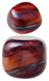 Due gemme della pietra preziosa di Jaspillite isolate Immagine Stock