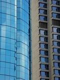 Due generi di costruzioni moderne esteriori Fotografia Stock